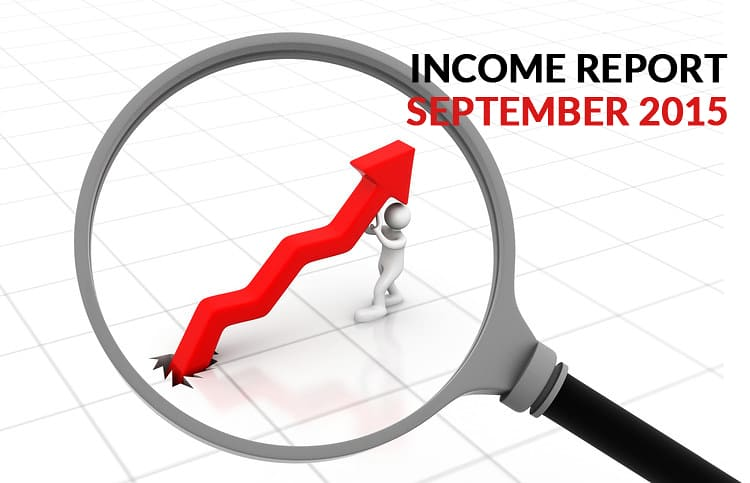 My First Monthly Income Report: September 2015