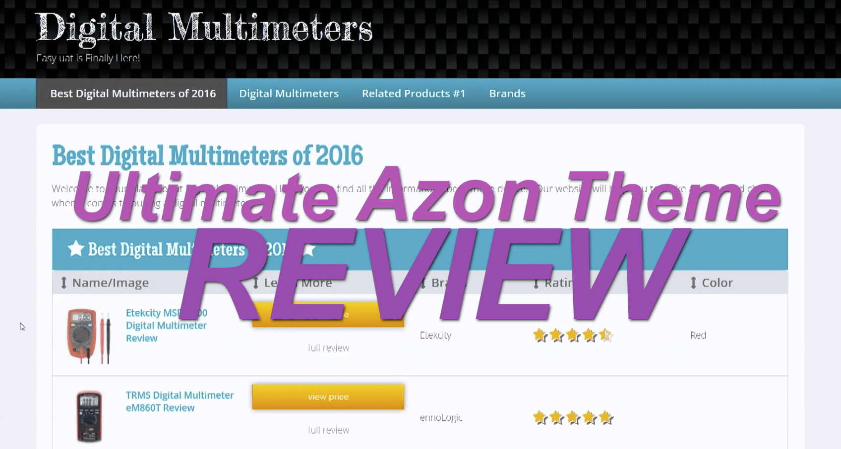 Ultimate Azon Theme Review Video