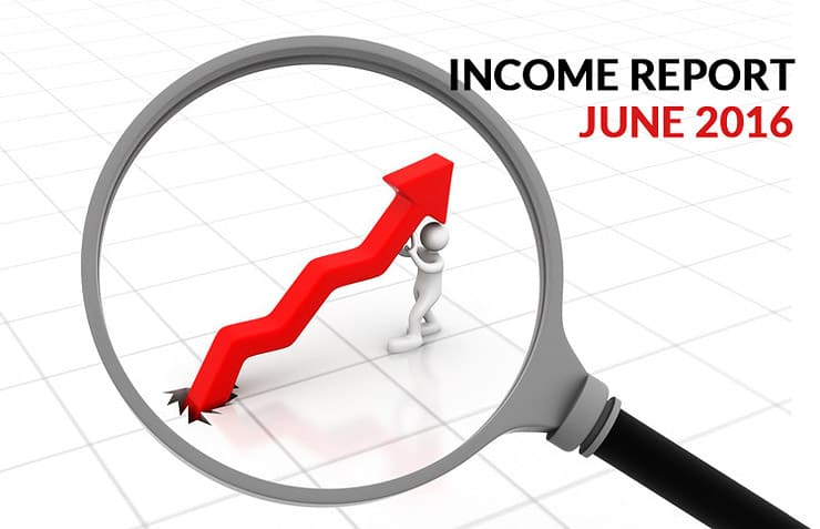 June 2016 Income Report
