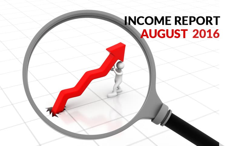 August 2016 income report