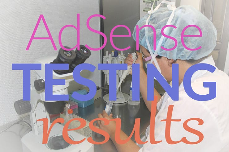 Adsense Split Test Results