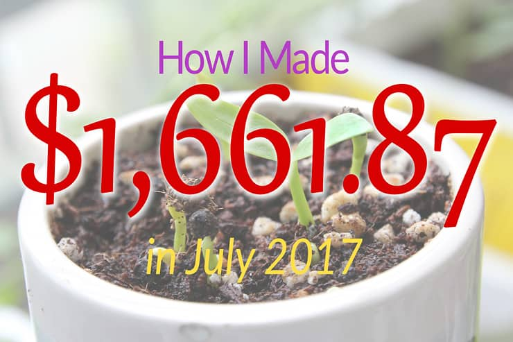 July 2017 Income Report