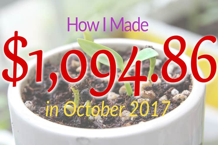 October 2017 Income Report