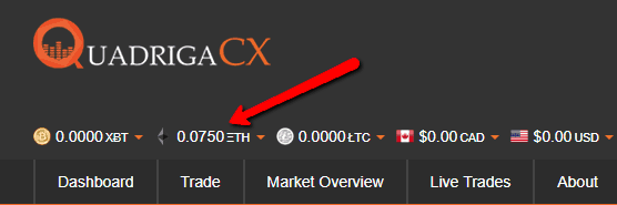 QuadrigaCX Review My First Ethereum Trade cryptocurrency funding 4