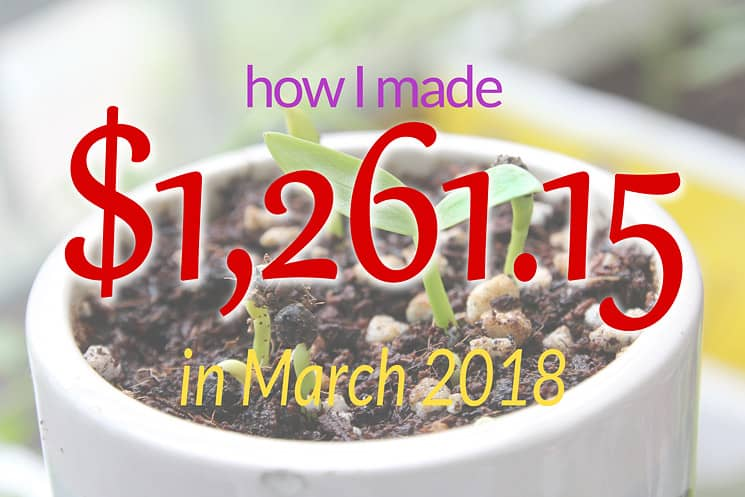 March 2018 Income Report