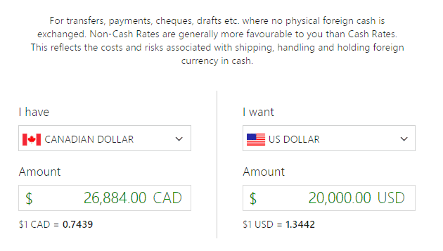 Ofx Canada Vs Td Borderless Plan 20000 Canadian To Us 1