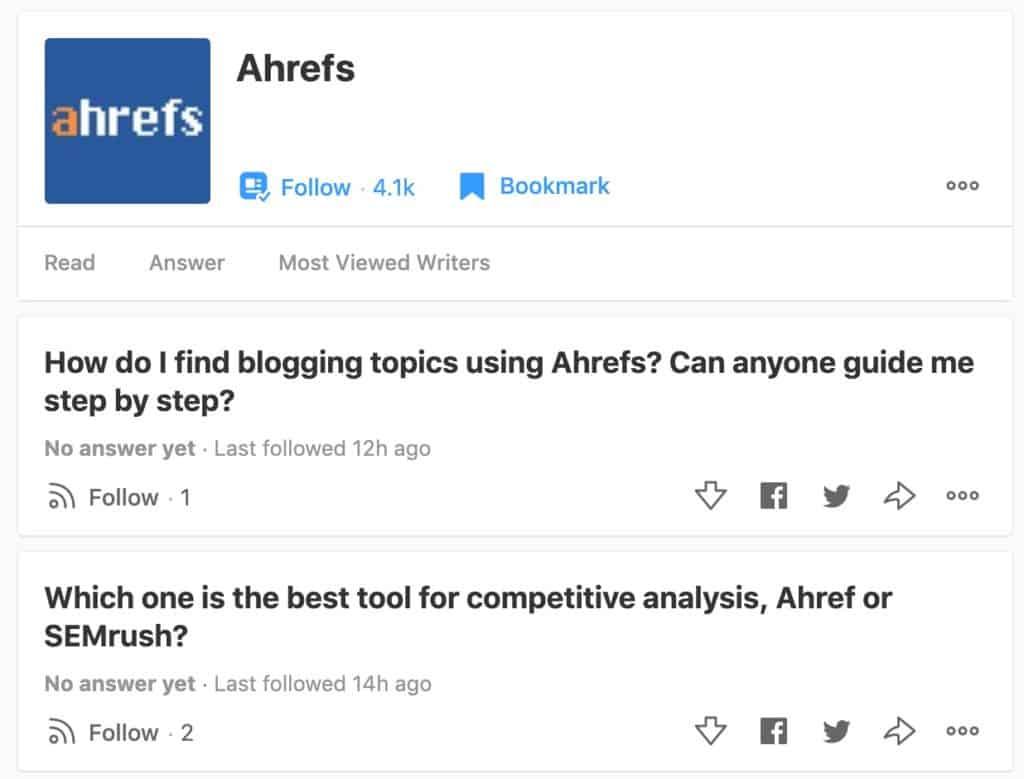 Ahref on Quora