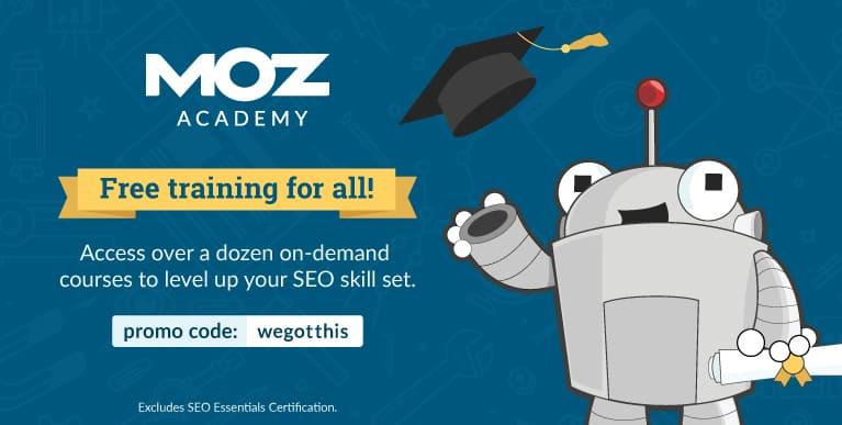 MOZ Academy is free till May 31, 2020