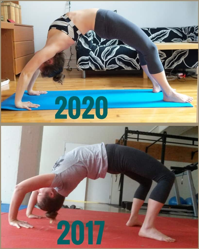 Wheel Pose Progress from 2017 to 2020