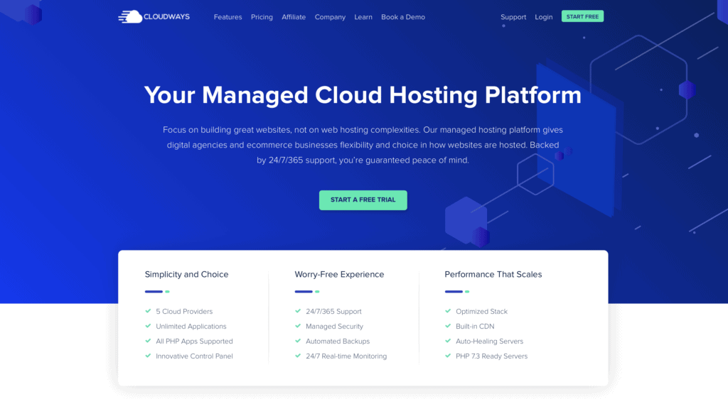 Cloudways is one of the best-managed WordPress hosting services