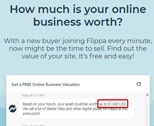 Flippa calculator price