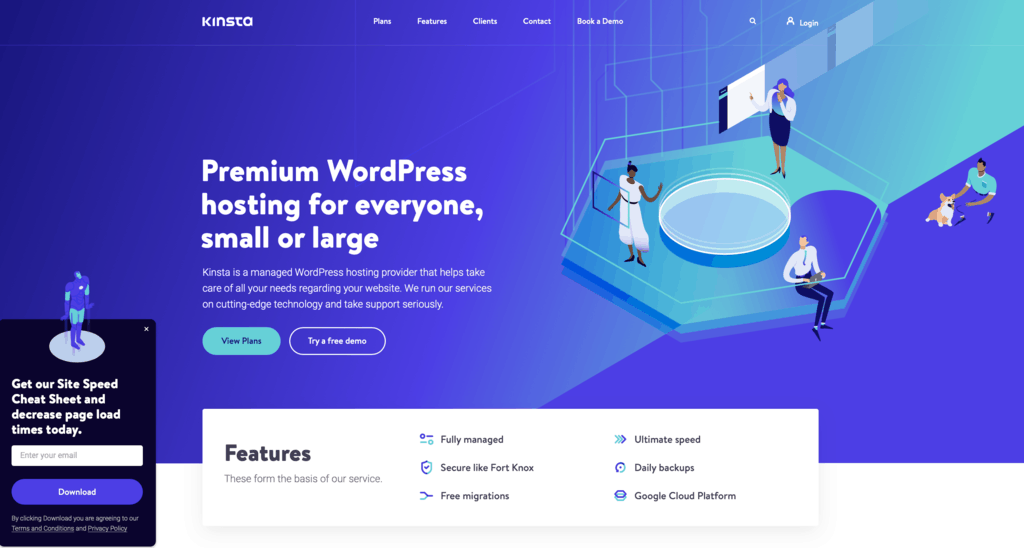 Kinsta is one of the best hosting providers specialized in WordPress