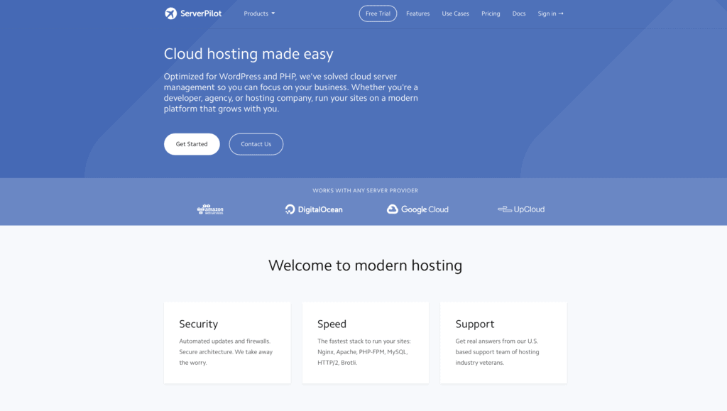 Serverpilot is also one of the best WordPress hosting services available on the market right now